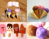 DIY Felt Ice Cream--PDF Pattern and instructions via Email--F17