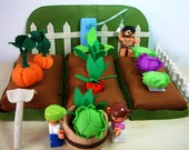 Felt Vegetables Garden--PDF Pattern via Email--F21