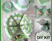 DIY Kiwi fruit cake,tea pot,box set Kit Package--K-F04T01