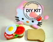 DIY felt Toaster and breakfast Kit Package--K-T03