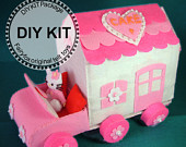 DIY Felt Cake Truck House Kit Package