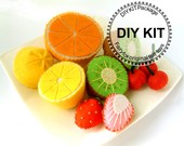 DIY felt fruits Kit Package--K-V02