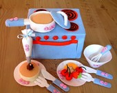 DIY felt Bake Oven and cooker set(12 in 1)---PDF pattern and instructions Via Email--T04