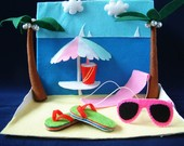 New Felt toys-Sea beach Party-PDF pattern and instructions via Email-T10