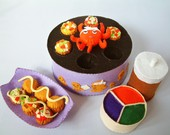Felt food pattern- Japanese Octopus ball maker set/Takoyaki--PDF Pattern and instructions via Email--T11