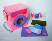 Felt toys pattern,Washing machine set--PDF pattern via Email--T12