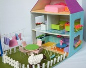 felt toy pattern-Doll house,courtyard,furniture Bundle set-PDF via Email-T14,T15
