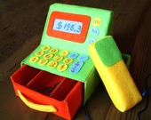 Felt toys pattern-Pos machine--PDF Pattern via Email-T17
